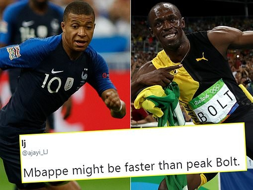 'Kylian Mbappe might be faster than peak Usain Bolt' after tearing up Germany