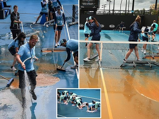 Dust storm forces Australian Open bosses to delay play in 'a first for Grand Slam tennis'