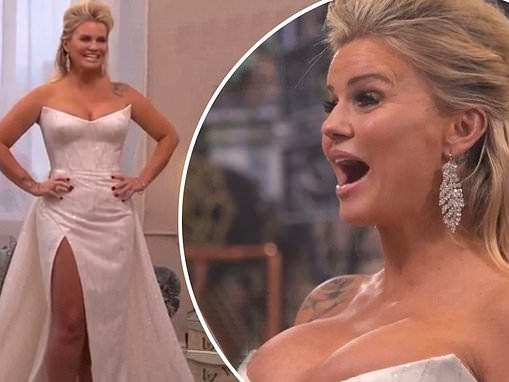 Kerry Katona reveals first look at her wedding dress ahead of fourth marriage