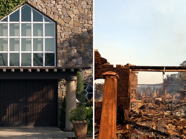 Before-and-after photos show how California's wineries have been devastated by fires