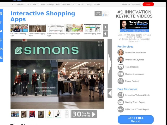 Interactive Shopping Apps - The Simons Department Store App Lets Users Upload Product Photos (TrendHunter.com)