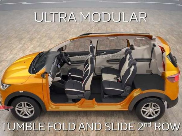 Renault Triber interior space, all 4 seating modes explained – Video