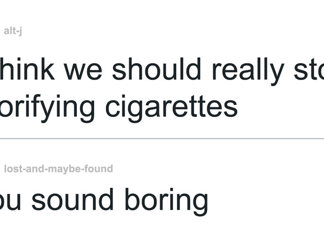 Someone Says That People Who Hate Smoking Are Boring, Gets Murdered By Words