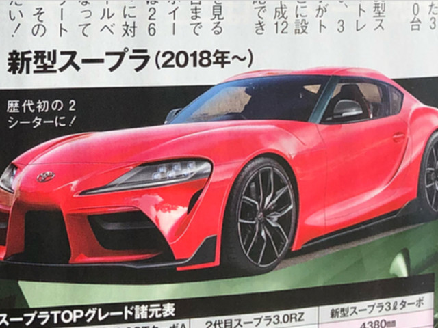 2019 Toyota Supra details leaked