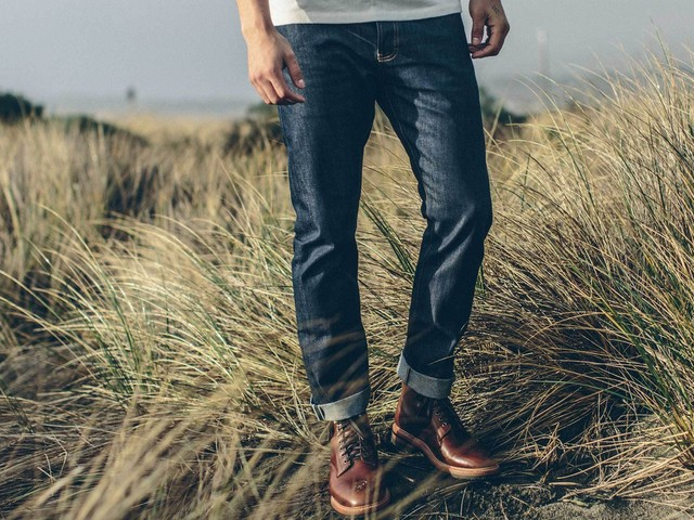These $148 Selvedge jeans are richly hued and designed to fade beautifully over time — they're also sustainably made, using 100% organic cotton