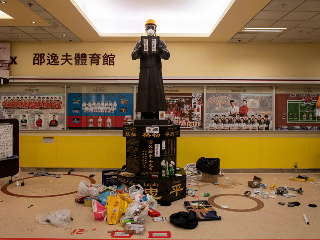 Inside the Hong Kong campus at the heart of the protests