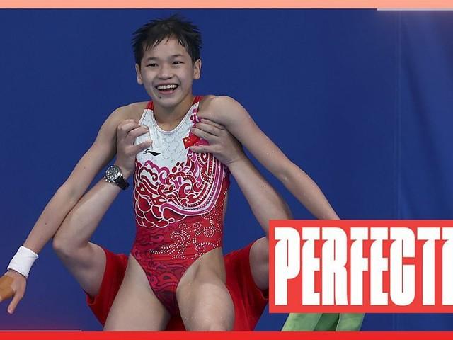 Tokyo Olympics: China's Quan Hongchan, 14, wins diving gold with three 10s