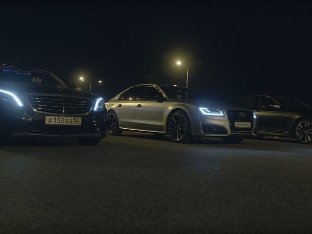 Video: BMW M760Li xDrive Races S63 AMG and Audi S8 Plus in Russian Review
