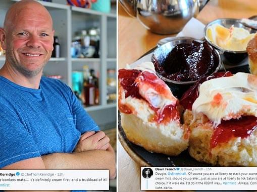 Chef Tom Kerridge reignites 'jam or cream first' scone debate