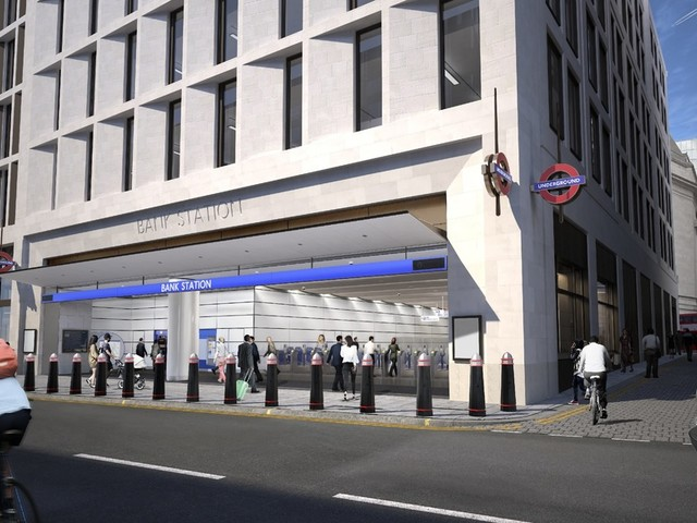 The New Bank Station Entrance At Cannon Street Is Taking Shape Nicely