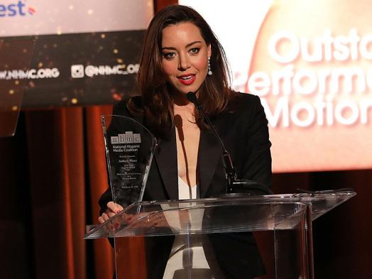 Aubrey Plaza, NHMC President Call Out Under-Representation of Latinos at Impact Awards