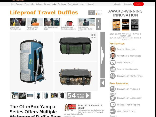 Lifeproof Travel Duffles - The OtterBox Yampa Series Offers Multiple Waterproof Duffle Bags (TrendHunter.com)