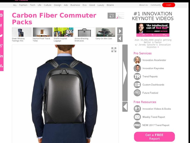 Carbon Fiber Commuter Packs - The TUMI CFX Carbon Fiber Southington Backpack is Durably Demure (TrendHunter.com)