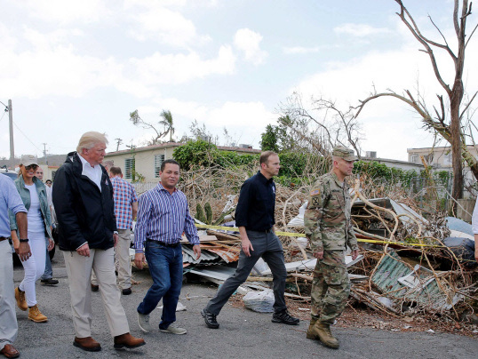 Trump tells Puerto Rico to be 'proud' of low storm toll