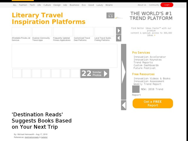 Literary Travel Inspiration Platforms - 'Destination Reads' Suggests Books Based on Your Next Trip (TrendHunter.com)