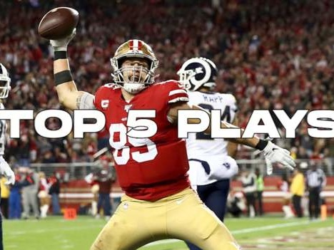 San Francisco 49ers George Kittle's top five plays