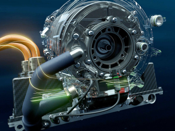 The BMW iFE.18 electric drivetrain making its debut in Formula E