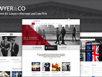 Lawyer & Co | WordPress Theme for Attorneys and Legal Firms (Business)