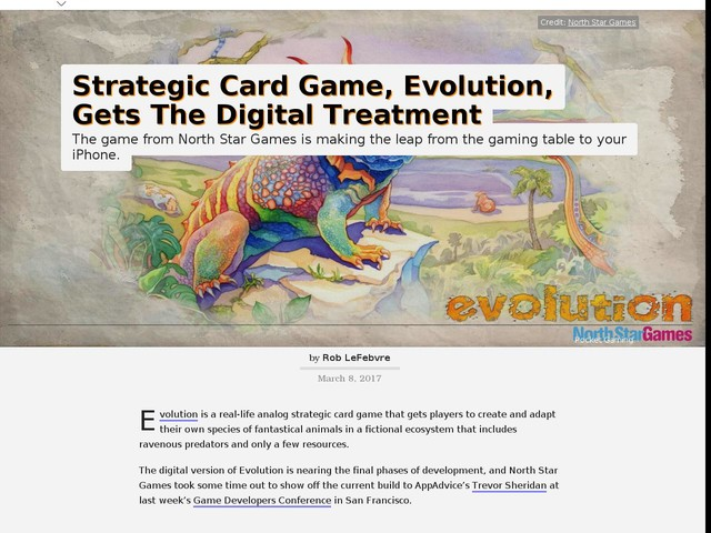 Strategic Card Game, Evolution, Gets The Digital Treatment