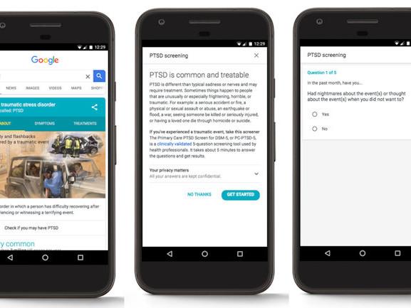 Google search quiz will help diagnose PTSD