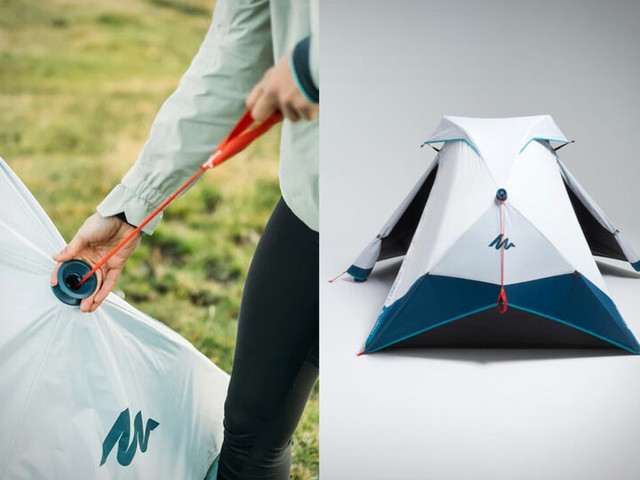 Instantaneous Setup Camping Tents - The Decathlon 2-Seconds Easy Tent is Ready for Use in a Moment (TrendHunter.com)