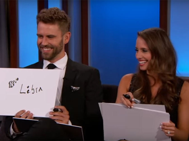 """The Bachelor's Nick and Vanessa Play the """"Newly Engaged Game"""" with Jimmy Kimmel"""