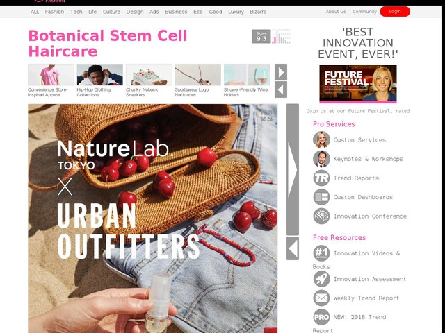 Botanical Stem Cell Haircare - NatureLab. TOKYO is Bringing Its Technology to Urban Outfitters (TrendHunter.com)