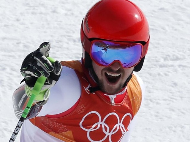 Pyeongchang 2018: Austria's Marcel Hirscher wins second gold with giant slalom triumph