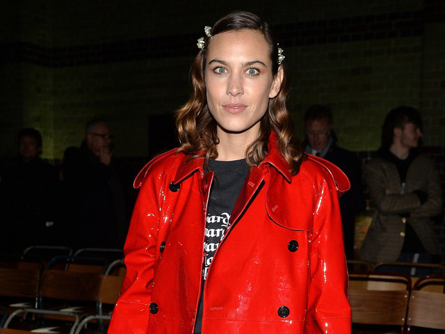 Looks We Love: Alexa Chung's Colourful Raincoat at London Fashion Week