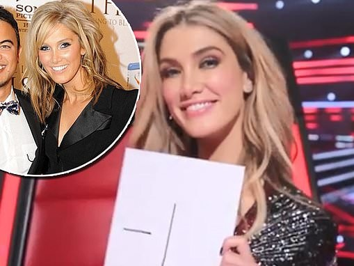 Ouch! Delta Goodrem gives her The Voice co-star Guy Sebastian a '-1' rating