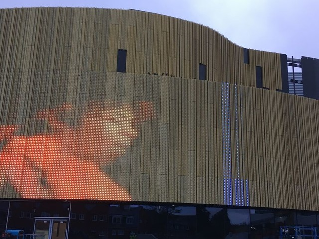 Tens of thousands of lights on Swansea's new arena are being put through their paces