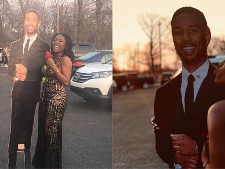 Fan who took Michael B. Jordan cutout to prom finally meets man himself