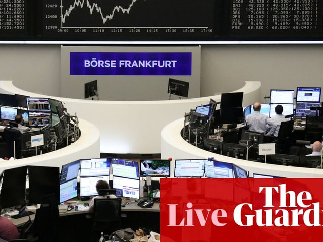Stock markets await eurozone growth data ahead of Fed rate decision – business live
