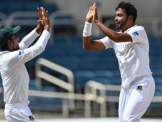 Mehidy's five-for restricts WI to 354 after Brathwaite ton