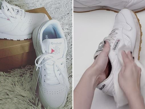 How to get your white sneakers gleaming again using baking soda, a toothbrush and a RAZOR