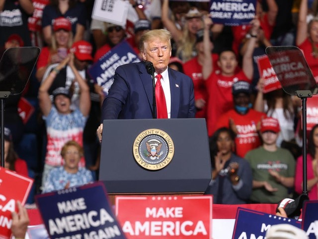 Trump's campaign team claims 4 million people watched rally online despite low in-person turnout