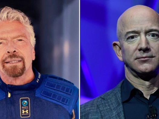 Virgin Galactic soars 31% after Richard Branson said he aims to reach space 9 days before Amazon boss Jeff Bezos