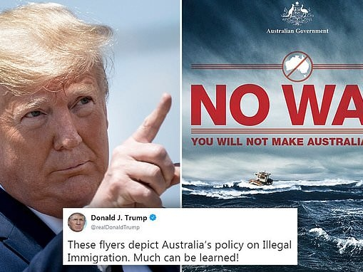 Trump uses Australia to back up immigration policy