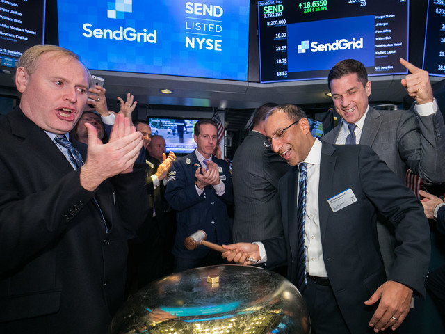 Email marketer SendGrid up 13% following IPO
