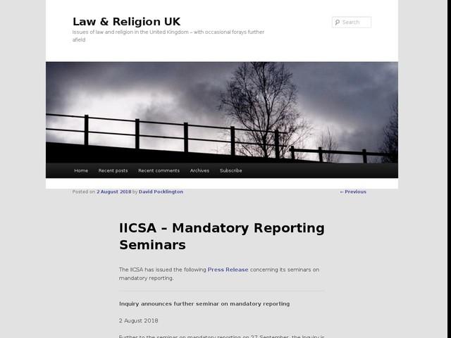 IICSA – Mandatory Reporting Seminars