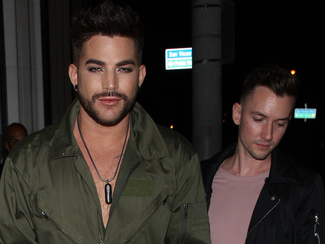Adam Lambert Wears a Green Jumpsuit for Night on the Town