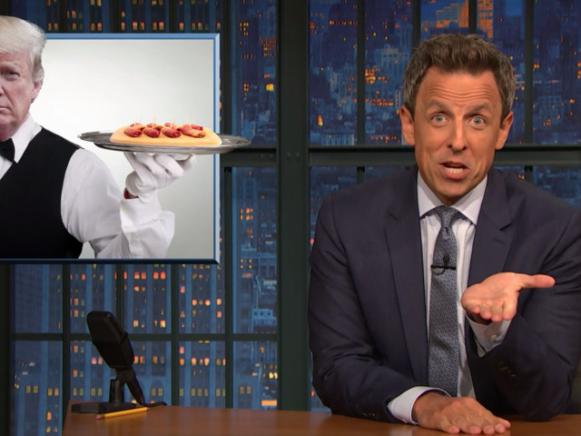 Seth Meyers says Trump calls 'treason' like he's offering hors d'oeuvres at a party