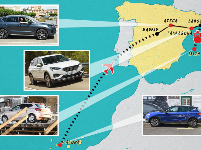From Arona to Ibiza, we test four Seat cars in the Spanish towns they were named after