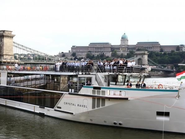 Crystal Ravel christened in Budapest, Hungary