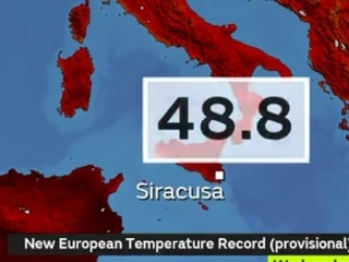Global Briefing: Italy experiences new European temperature record
