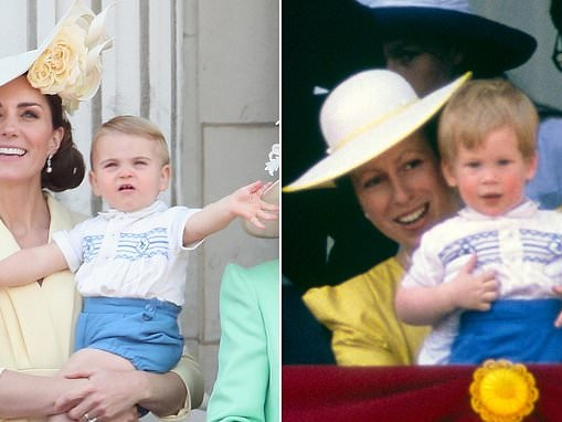 Royal fans spot Prince Louis wearing EXACTLY the same shirt as Prince Harry did 30 years ago
