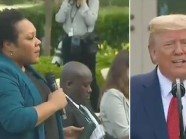 Trump berated a black journalist, telling her to 'be nice' and not 'threatening' at a coronavirus briefing, but she refused to take the bait