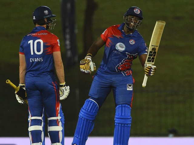 Andre Russell hammers 65 off 19 balls, Colombo Kings make 96 to win five-over shootout