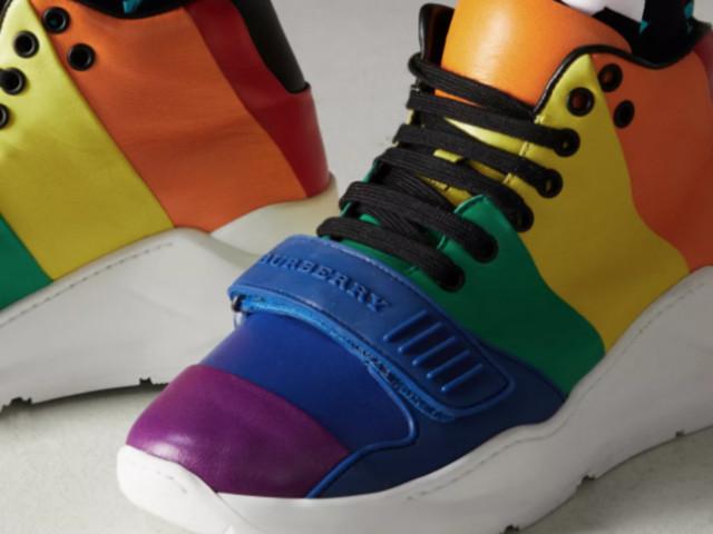 London Fashion Week Looks We Love: Burberry's Rainbow Trainers