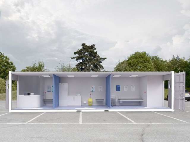Mobile Vaccination Centres - Waugh Thistleton Architects Boasts a Concept for the Immunization Phase (TrendHunter.com)